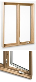 wood on pvc window casements